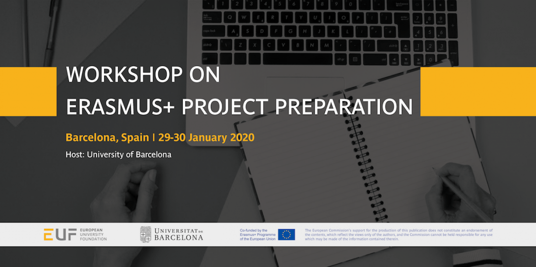 Save the date: Workshop on Erasmus+ projects preparation