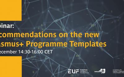 Webinar: Recommendations on the new Erasmus+ Programme Templates