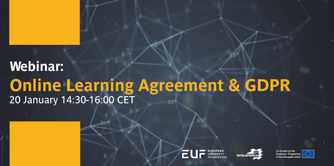 Webinar: Online Learning Agreement & GDPR