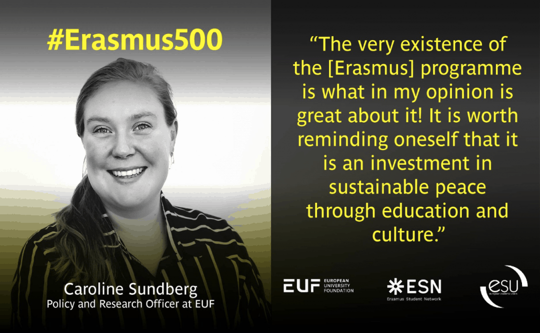 #Erasmus500 Policy Insights – Interview with Caroline Sundberg