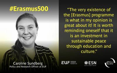 #Erasmus500 Policy Insights – Interview with Caroline Sundberg