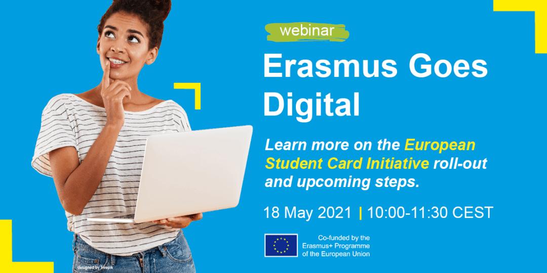 New Erasmus Goes Digital webinar series starts on 29 April