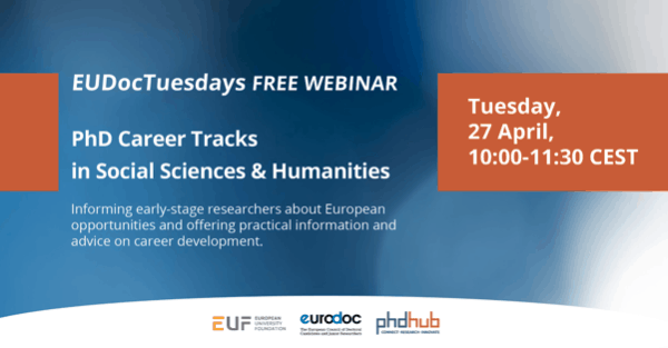 European Doctoral Tuesdays | PhD Career Tracks in Social Sciences & Humanities